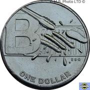 1 Dollar - Elizabeth II (6th Portrait - The Great Aussie Coin Hunt 2 - Letter B) -  obverse