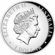 1 Dollar - Elizabeth II (4th Portrait - Australian Wedge-Tailed Eagle - High Relief) -  obverse