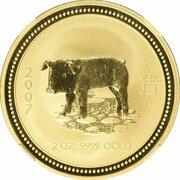 200 Dollars - Elizabeth II (4th Portrait - Year of the Pig - Gold Bullion Coin) – reverse