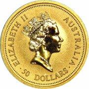 50 Dollars - Elizabeth II (3rd Portrait - Kangaroo - Gold Bullion Coin) – obverse