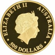 500 Dollars - Elizabeth II (4th Portrait - Australian Kangaroo - Pink Diamond) – obverse