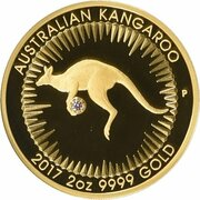 500 Dollars - Elizabeth II (4th Portrait - Australian Kangaroo - Pink Diamond) – reverse