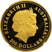 200 Dollars - Elizabeth II (4th Portrait - Australian Nugget - Gold Bullion Coin) – obverse