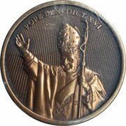 Medal - World Youth Day (Pope Benedict - Arms Raised) – obverse