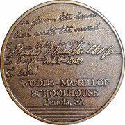 Medal - Saint Mary MacKillop (The Schoolhouse) – reverse