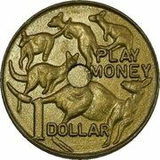Token - 1 Dollar Mob of Roos (Play Money) – reverse