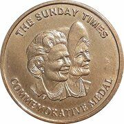 Medal - Queen Mother Commemorative (Sunday Times) – reverse