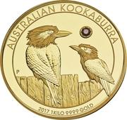 5000 Dollars - Elizabeth II (The Australian Trilogy - Kookaburra) -  reverse