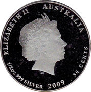 50 Cents - Elizabeth II (Leafy Sea Dragon) -  obverse