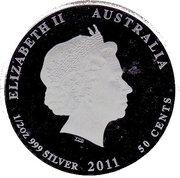 50 Cents - Elizabeth II (Starfish) -  obverse