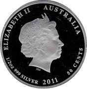 50 Cents - Elizabeth II (Hawksbill Turtle) -  obverse
