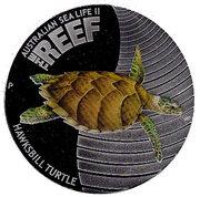 50 Cents - Elizabeth II (4th Portrait - Hawksbill Turtle) -  reverse