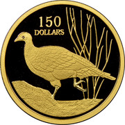 150 Dollars - Elizabeth II (4th Portrait - Malleefowl - Gold Bullion Coin) -  reverse