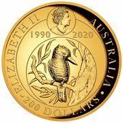 200 Dollars - Elizabeth II (6th Portrait - Kookaburra - Gold Bullion Coin) – obverse