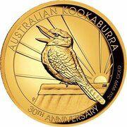 200 Dollars - Elizabeth II (6th Portrait - Kookaburra - Gold Bullion Coin) – reverse