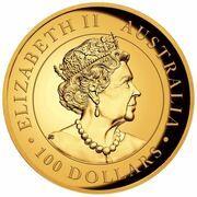 100 Dollars - Elizabeth II (6th Portrait - Koala - Gold Bullion Coin) – obverse