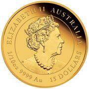 15 Dollars - Elizabeth II (6th Portrait - Year of the Tiger - Gold Bullion Coin) – obverse