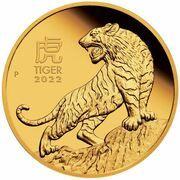 15 Dollars - Elizabeth II (6th Portrait - Year of the Tiger - Gold Bullion Coin) – reverse
