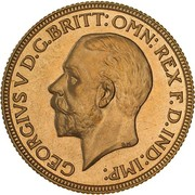 1 Sovereign - George V (Enhanced portrait) – obverse