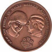 Medal - Royal Wedding 1981 (Copper Version) – obverse