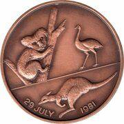 Medal - Royal Wedding 1981 (Copper Version) – reverse