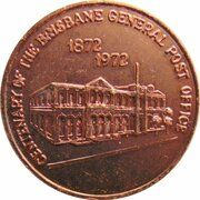 Medal - Centenary of the Brisbane Post Office – obverse