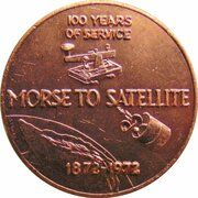 Medal - Centenary of the Brisbane Post Office – reverse