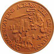 Medal - Brisbane Post Office Museum – reverse