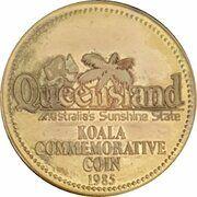 Medal - Queensland Souvenir Dollar – obverse