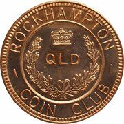 Medal - Rockhampton Coin Club (Sesquicentenary) – obverse
