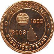 Medal - Rockhampton Coin Club (Sesquicentenary) – reverse