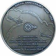 Medal - Abel Tasman (350th Anniversary sighting of Tasmania) – reverse