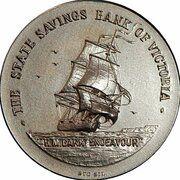 Medal - Captain James Cook Bi-Centenary – reverse