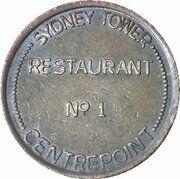 Token - Sydney Tower Restaurant No 1 – obverse