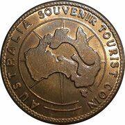 Medal - Souvenir Tourist Coin (Wellington Showcaves NSW) – reverse