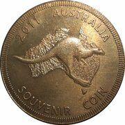 Medal - Australia Tourist Coin (Australian Institute of Sport ACT) – reverse