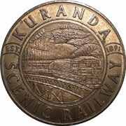 Medal - Australia Tourist Coin (Kuranda Scenic Railway QLD) – obverse