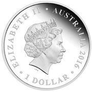 1 Dollar - Elizabeth II (4th Portrait - 75th Anniversary of WWII - The Rats of Tobruk) -  obverse