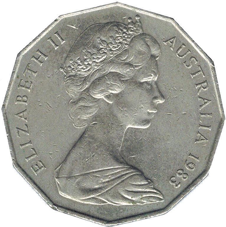 50 Cents Elizabeth Ii 2nd Portrait Dodecagonal Type