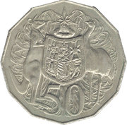 50 Cents - Elizabeth II (2nd Portrait - Dodecagonal type) -  reverse