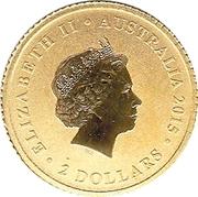 2 Dollars - Elizabeth II (Australian Wedge-tailed Eagle) -  obverse