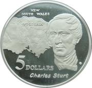 5 Dollars - Elizabeth II (Charles Sturt) -  reverse