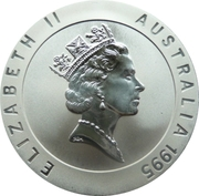 10 Dollars - Elizabeth II (3rd Portrait - Dawn Fraser - Frosted Proof) -  obverse
