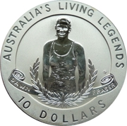 10 Dollars - Elizabeth II (Australia's Living Legends - Dawn Fraser) -  reverse