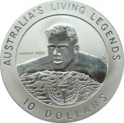 10 Dollars - Elizabeth II (Australia's Living Legends - Murray Rose) -  reverse