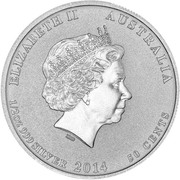 50 Cents - Elizabeth II (Houston-Perth Sister Cities) – obverse