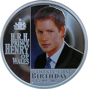 1 Dollar - Elizabeth II (4th Portrait - Prince Henry of Wales 21st Birthday) -  reverse