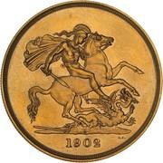 5 Pounds - Edward VII (Coronation) – reverse