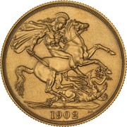 2 Pounds - Edward VII (Coronation) -  reverse