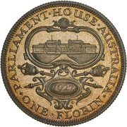 1 Florin - George V (Opening of (Old) Parliament House) -  reverse